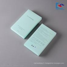 Conception promotionnelle pliage boîte de papier cadeau de stockage cosmétique vide