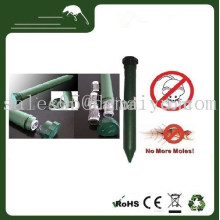 Repelente de plagas con batería electrónica solar verde Sonic Mole Mouse para sonido y vibración