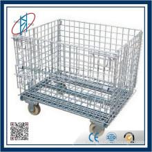 Industrail Galvanized Steel Wire Storage Cage