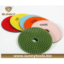 100мм алмазные полировальные подушки для гранита и мрамора (SY-PL-T001)