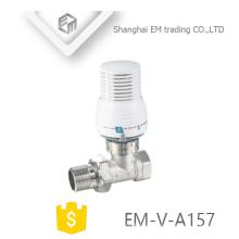 EM-V-A157 Válvula manual del ángulo del radiador del control termostático de cobre amarillo de la unión masculina