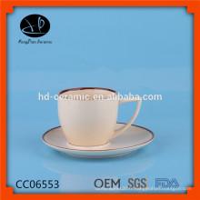 Tasse à café en céramique design unique, porte-café, tasse à café en céramique réutilisable et soucoupe