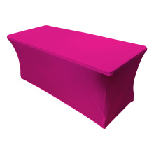 Solid colored  4ft / 6ft / 8ft spandex rectangular spandex table cover  Stretch Tischdecke