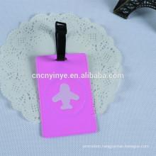 fancy soft pvc creative 2D bag luggage tags