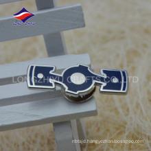 Metal popular hard enamel rectangular lapel pin with logo