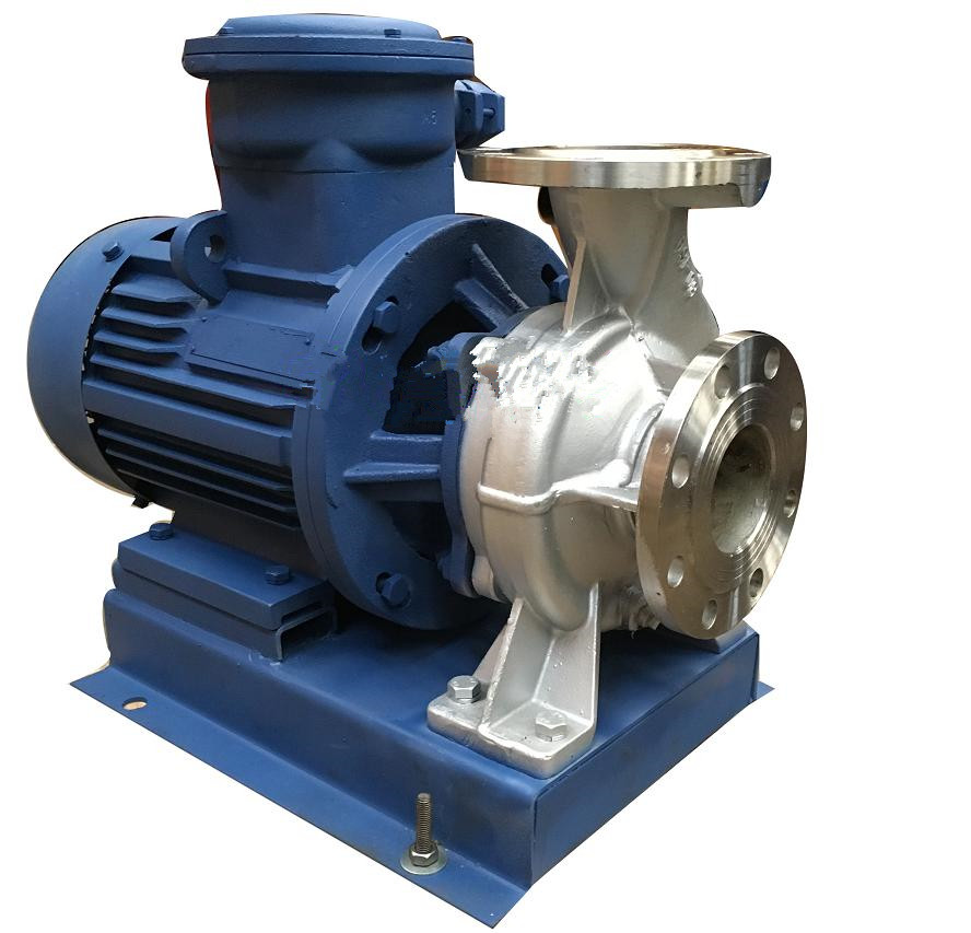 ISWH explosion-proof chemical stainless steel pipeline pump horizontal chemical pump 2
