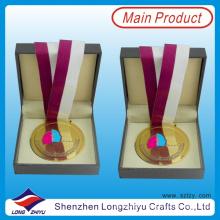 Гана Трофеи и Медали, Золотая Медаль Лента с Медалью Коробка для Правительства (lzy00044)