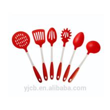 Qualitäts-roter Nylon-Griff Nylon-Kochgeschirr-Set