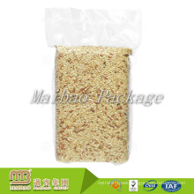 Custom Sizes 2Kg 5Kg Side Gusset Plastic Clear / Transparent Vacuum Rice Packaging Bag