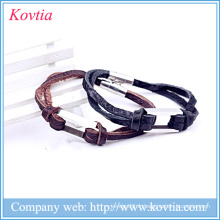 Bracelet en gros en Chine bracelet en cuir joker garçon 316 bracelet en magnésium en acier titane