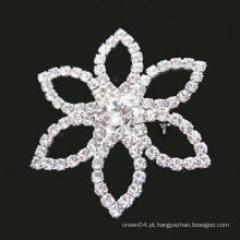 Broche de diamante rhinestone simples