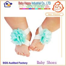 Top chaussures de bébé en dentelle colorée en gros