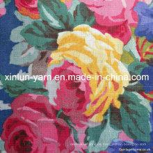Tela de lino de la mezcla del algodón de la impresión para la ropa / la cortina / la tapicería