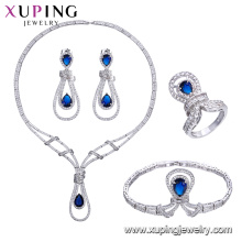 set-59 xuping bijuterias, China atacado Ródio banhado a luxo conjunto