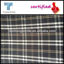 Клетчатая рубашка ткань черный Плед пряжи, окрашенной ткани/твил рубашки пряжи, окрашенной ткани/хлопок