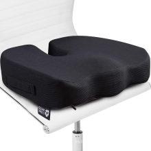 Almofada de assento para cadeira de escritório - 100% Memory Foam Firm Coccyx Pad - Cóccix, ciática, alívio da dor lombar - Corretor de postura com contorno para carro