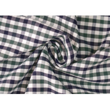 Oliver/Navy contrôles sergé Polyester tissu de coton 40 60 pour chemises