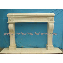 Fireplace Surround for Stone Marble Fireplace Mantel (QY-LS155)