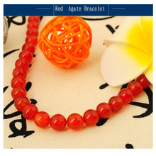 Bracelet Agate Rouge Naturel