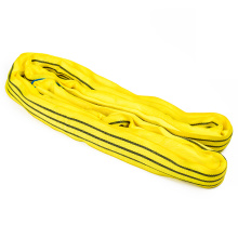 3 Ton 3M Or OEM Length Polyester 3T Round Lifting Sling Raw Material Belt Yellow Color Safety Factor 8:1 7:1