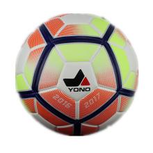 Balón de fútbol laminado colorido barato tamaño 5 del cuero de la PU