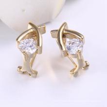 Saudi Gold Schmuck Ohrring mit 14 Karat vergoldet