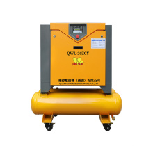 15KW 20HP All in One Air-Compressors Lubricated Industrial Screw Compressor with Inverter