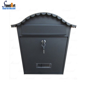 Wall mounted mailbox with master key decorative design metal mailbox