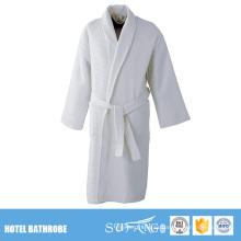 W Hotel Proveedor de lino de baño Chal Collar Waffle Hotel barato Conjunto de albornoz de algodón
