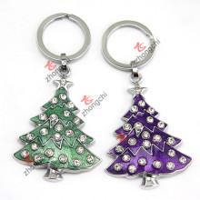 Porte-clés de Noël en métal pour cadeau de promotion du festival (KR18)
