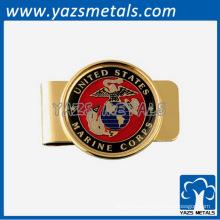 Clip de dinero personalizado, clips de dinero de oro
