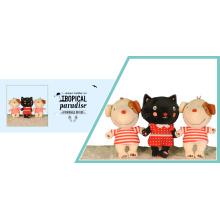 Niedliche Katzen- und Hundeplüschspielwaren