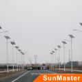 Luz de calle de la energía solar de la eficacia alta de la aleación de aluminio de 100W LED,