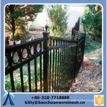 2015 new style cheap sloping terrain iron fence /sloping terrain steel iron fence
