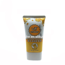 baby massage cream oval plastic packaging tube container