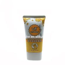 bebê massagem creme oval recipiente de tubo de embalagem de plástico
