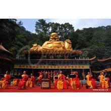 decoração ao ar livre budismo grande metal antigo bronze maitreya buddha