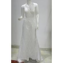 Белое свадебное платье с русалкой и бисером