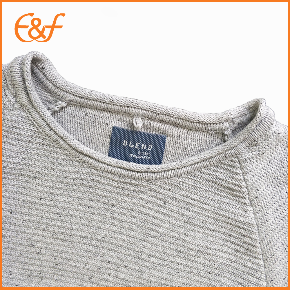 Mens cotton sweaters neck look