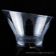 Tazón de fuente de plástico Bowl desechable Tazón de conexión biselado