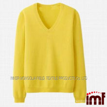 2014 new style yellow cashmere cardigan lady sexy cardigan