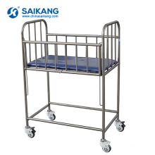 X02 Cheap Child Used Hospital Stainless Steel Baby Crib For Sale