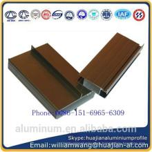Nepal mercado janelas perfil de alumínio de anodizado preto e bronze anodizado