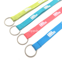 Promotional Logo Polyester Lanyards with Key Ring