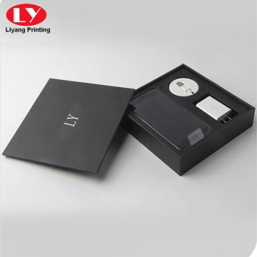 Schwarze Mobiltelefonzubehörverpackung