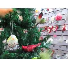 Enfeites de Natal de suspensão Pássaros de vidro de Natal