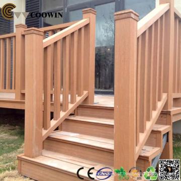 Trilho de escada ao ar livre de plástico madeira tec