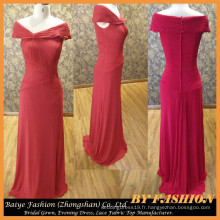 Ladies Long Evening Party Wear Gown Chiffon Robe de soirée rouge BYE-14086