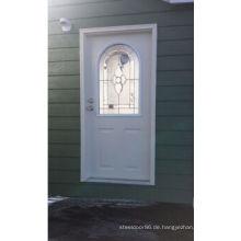 Modernes dekoratives Glas Fangda eingefügt Stahltür