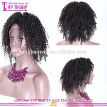 Atacado peruca de celebridades remy indiano encaracolado peruca dianteira do laço perucas de cabelo humano curto